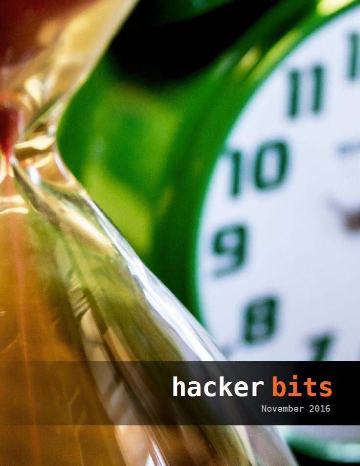 Hacker Bits Cover, November 2016