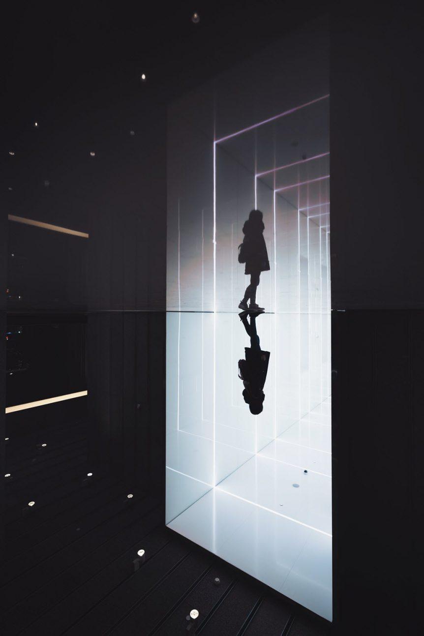 Woman Light Tunnel