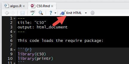 Knit HTML